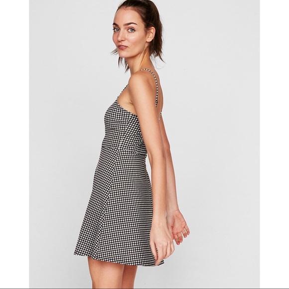 Express Dresses & Skirts - Express Black & White Gingham Dress